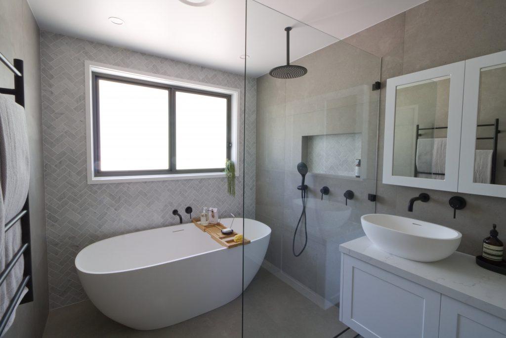 Monash - Main Bathroom, Ensuite, Powder Room & Laundry.